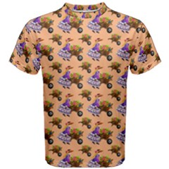 Flowers Girl Barrow Wheel Barrow Men s Cotton Tee