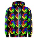 Swirls Pattern Seamless Wallpaper Men s Zipper Hoodie View1