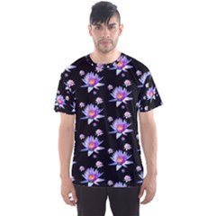 Flowers Pattern Background Lilac Men s Sports Mesh Tee