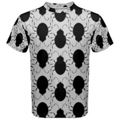 Pattern Beetle Insect Black Grey Men s Cotton Tee
