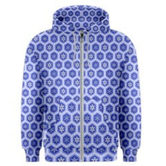A Hexagonal Pattern Unidirectional Men s Zipper Hoodie