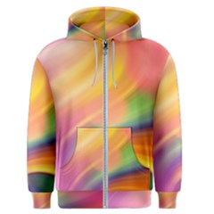 Wave Watercolor Watercolour Men s Zipper Hoodie