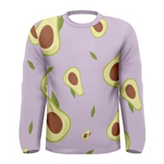 Avocado Green With Pastel Violet Background2 Avocado Pastel Light Violet Men s Long Sleeve Tee by genx