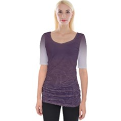 Organic Olive Leaves Pattern Hand Drawn Purple Red Wine Wide Neckline Tee by genx