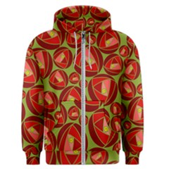 Abstract Rose Garden Red Men s Zipper Hoodie