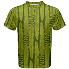 Fern Texture Nature Leaves Men s Cotton Tee
