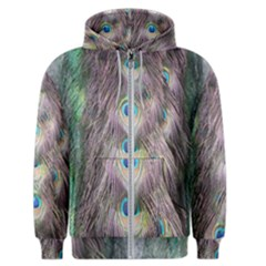 Peacock Bird Pattern Men s Zipper Hoodie