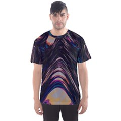Pattern Texture Fractal Colorful Men s Sports Mesh Tee