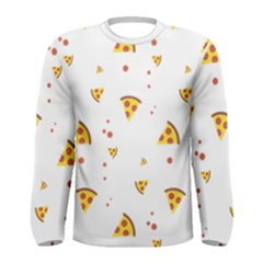 Pizza Pattern Pepperoni Cheese Funny Slices Men s Long Sleeve Tee by genx