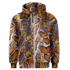 Luxury Snake Print Men s Zipper Hoodie by tarastyle