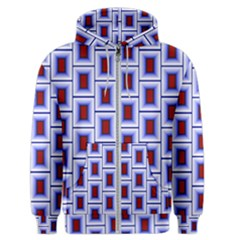 Abstract Square Illustrations Background Men s Zipper Hoodie