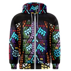 Mosaic Window Rosette Church Glass Men s Zipper Hoodie