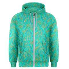 Neon Tropical Flowers Pattern Men s Zipper Hoodie by tarastyle