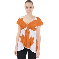 Logo Of New Democratic Party Of Canada Lace Front Dolly Top by abbeyz71