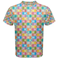 Seamless Pattern Background Abstract Rainbow Men s Cotton Tee by HermanTelo
