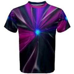 Abstract Background Lightning Men s Cotton Tee by HermanTelo