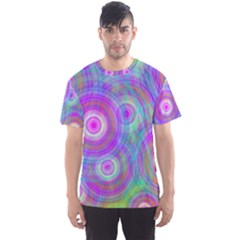 Circle Colorful Pattern Background Men s Sports Mesh Tee
