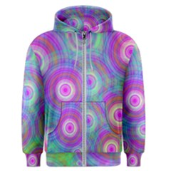 Circle Colorful Pattern Background Men s Zipper Hoodie
