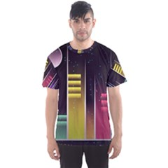 Illustrations Background Abstract Colors Men s Sports Mesh Tee