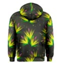 Background Floral Abstract Lines Men s Zipper Hoodie View2