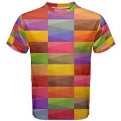 Abstract Background Geometric Men s Cotton Tee