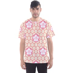 Floral Design Seamless Wallpaper Men s Sports Mesh Tee