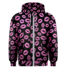 Pink Kisses Men s Zipper Hoodie by TheAmericanDream