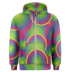 Background Colourful Circles Men s Zipper Hoodie by HermanTelo