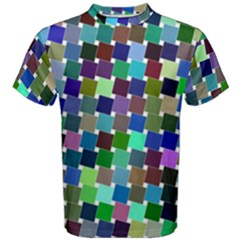 Geometric Background Colorful Men s Cotton Tee