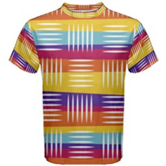 Background Line Rainbow Men s Cotton Tee by HermanTelo