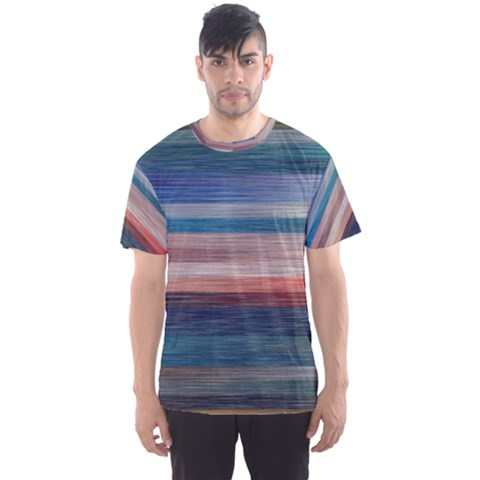Background Horizontal Lines Men s Sports Mesh Tee by HermanTelo