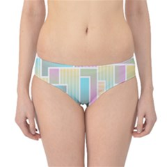 Color Blocks Abstract Background Hipster Bikini Bottoms