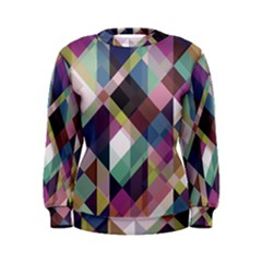 Geometric Blue Violet Pink Women s Sweatshirt