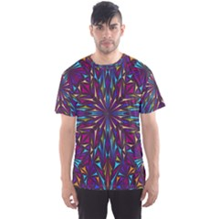 Kaleidoscope Triangle Curved Men s Sports Mesh Tee