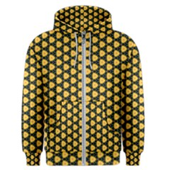 Pattern Halloween Pumpkin Color Yellow Men s Zipper Hoodie