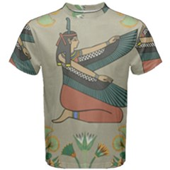 Egyptian Woman Wings Design Men s Cotton Tee