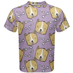 Corgi Pattern Men s Cotton Tee