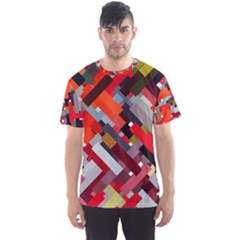 Maze Mazes Fabric Fabrics Color Men s Sports Mesh Tee
