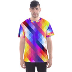 Abstract Background Colorful Pattern Men s Sports Mesh Tee