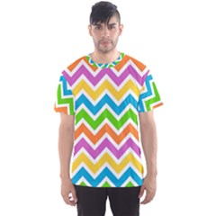 Chevron Pattern Design Texture Men s Sports Mesh Tee