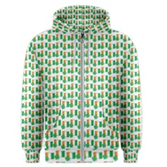 St Patricks Day Background Ireland Men s Zipper Hoodie