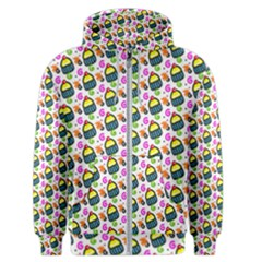 Sweet Dessert Food Cake Pattern Men s Zipper Hoodie