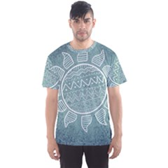 Sun Abstract Summer Men s Sports Mesh Tee