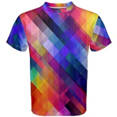 Abstract Background Colorful Pattern Men s Cotton Tee by Bajindul
