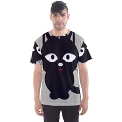 Cat Pet Cute Black Animal Men s Sports Mesh Tee