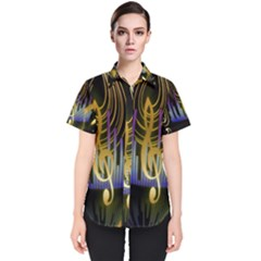 Background Level Clef Note Music Women s Short Sleeve Shirt by Bajindul