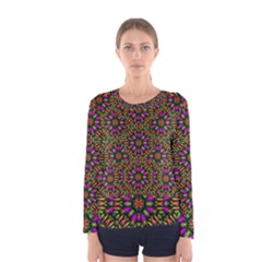 Paradise Flower In The Jungle Women s Long Sleeve Tee by pepitasart