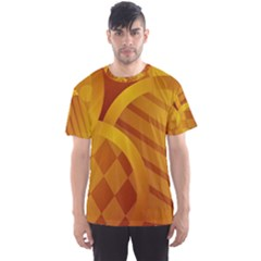 Background Abstract Shapes Circle Men s Sports Mesh Tee