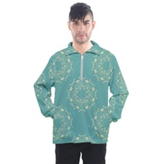 Floral Vintage Men s Half Zip Pullover by TimelessFashion