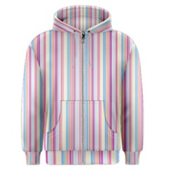 Sweet Stripes Men s Zipper Hoodie by TimelessFashion